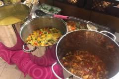 Kartoffelsuppe, mediterrantes Gemüse, Gemüse-Curry