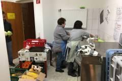 Das fleißige Küchen-Team